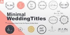 Wedding Titles  • After Effects Template • See it in action ➝ https://videohive.net/item/wedding-titles/19477052?ref=pxcr