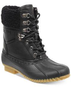e2d1ab314d8 Tommy Hilfiger Rian Lace-Up Winter Boots - Black
