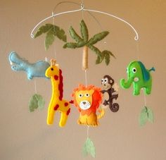 Safari / Jungle Friends Baby Mobile #pinhonest