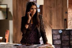 Elena Gilbert brown jacket