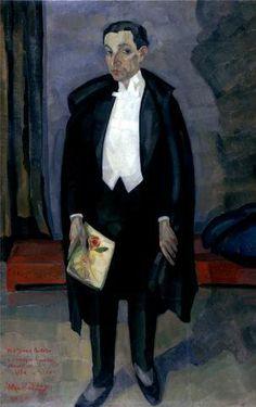 Retrato de José Pacheco, 1925 by Mario Eloy (Portuguese 1900-1951)