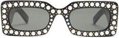 Gucci Sunglasses Gucci Sunglasses, Sunglasses Women, Fashion Eye Glasses, Fashion Forward, Eyewear, Pearls, Detail, Stylish, Check