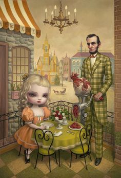 The Grinder by Mark Ryden #MarkRyden #painting #art