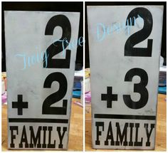 Love these family signs, perfect for the blended family !
