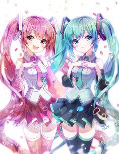 Hatsune Miku y Miku Kasura