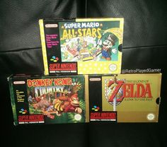 Shared by retroplayedgamer #retrogames #microhobbit (o) http://ift.tt/28NqU8M a bit busy this last week and the always cool @sabotage64 tagged me a few days ago to show my 3 most played SNES games and here they are top of the pile is Super Mario All-Stars so much Mario on one cart you can't go wrong . @retro_gamer_ireland @gvil77 and @k8vingaming guys what's you 3 most played SNES games?  #rceurope #retrocollective #retrocollectiveeurope #retrocollectiveuk #retrogaming  #snes #supernintendo…