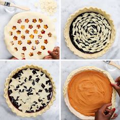 4 Amazing Ways To Decorate A Pie cake wedding cake kindergeburtstag ohne backen rezepte schneller cake cake Pie Decoration, Decoration Patisserie, Just Desserts, Delicious Desserts, Yummy Food, Pie Dessert, Dessert Recipes, Pie Crust Designs, Pie Crust Recipes
