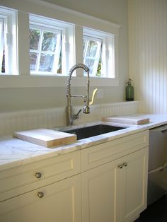 Walk-in pantry with sink & awning windows ~ Molly Frey Design one day, I will have a pantry!
