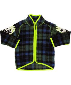 Molo groovy checked teddy fleece jacket #emilea