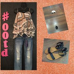 "NEW Spring arrivals are making their way to Moda me! Like today's #ootd NEW Vigoss jeans and Young at Heart spaghetti strapped top! So cute!!! Add a simple necklace and black leather sandals! Outfit complete!!!!   ""Create in me a clean heart, O God; and renew a right spirit within me."" Psalm 51:10"