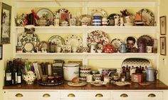 plate racks The kitchen dresser, and why it's 'more important than central heating' Kitchen Dresser, Kitchen Shelves, What Is A Country, English Country Kitchens, French Country, Hutch Cabinet, Welsh Dresser, Plate Racks, Cottage Kitchens