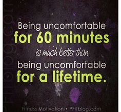 Exactly! Make time to get uncomfortable!!
