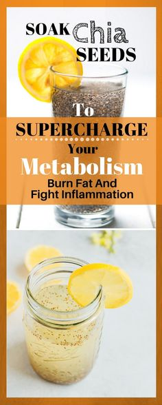 Soak Chia Seeds To Supercharge Your Metabolism, Burn Fat And Fight Inflammation - Holistic Healthcare Herbal Remedies, Natural Remedies, Health Remedies, Healthy Life, Healthy Living, Healthy Detox, Healthy Choices, Menu Dieta, Hypothyroidism Diet