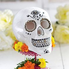 It's time for Halloween so get creative and design a skull, with your own style, to add to your ... #pinsavvy #halloween