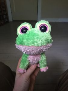 Ty Beanie Boo Kiwi Frog Green Pink 2009 W Tush Tag Rare Retired Collectible 4a1472bae190