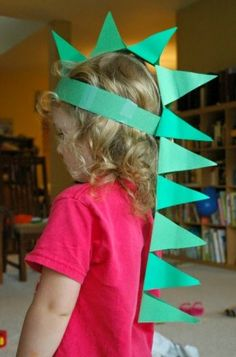 DIY Paper Dinosaur Hat Craft for Kids DIY Paper Dinosaur Hat- Craft for preschool, kindergarten, or elementary kids. Hat Crafts, Paper Crafts For Kids, Easy Diy Crafts, Preschool Crafts, Diy For Kids, Preschool Kindergarten, Help Kids, Diy Paper Crafts, Fun Diy