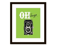 Retro art-vintage camera print-typographic art poster 8x10 - funny quote art - oh snap. $14.00, via Etsy.
