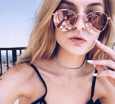 Round Metal Sunglasses Steampunk Men Women Fashion Glasses B… – Glasses Small Round Sunglasses, Circle Sunglasses, Ray Ban Sunglasses, Sunglasses Women, Reflective Sunglasses, Hot Lingerie, Model Street Style, Street Style Women, Sunglasses