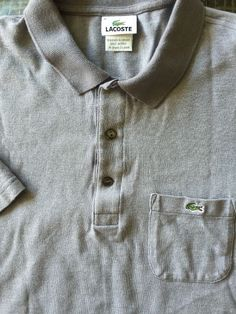 Men LACOSTE Gray 6 Large Polo Shirt  S/S #Lacoste #PoloRugby