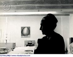 Georgia O'Keeffe in Her Studio. Photo by Basil Langton