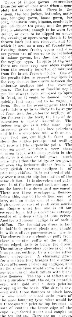INDOOR GOWNS. Wairarapa Daily Times, Volume LXVIII, Issue 14218, 23 February 1915 Tea Gown, Fabulous Fabrics, Dress Making, February, Indoor, Gowns, Times, Paper, Color