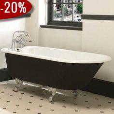 Waldorf - Roll Top Badekar, Støbejern & fødder i krom - Badekaret måler 1.700 x 780 mm   Bredt udvalg af badekar kan købes billigt online hos VillaHus.com