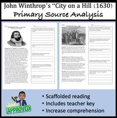 John Winthrops City On A Hill Primary Source Analysis Christian CharitiesMassachusetts