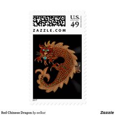 Red Chinese Dragon Postage