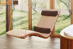 Schwebeliege Siesta Heaven - First-Class-Holz Indoor Sauna, Sauna Design, Chalet Design, Diy Sofa, Deck Furniture, Garden Office, Hanging Chair, Floor Chair, House