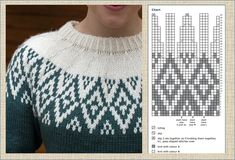 Knitting Charts, Knitting Stitches, Bead Crochet Rope, Knit Crochet, Punto Fair Isle, Nordic Sweater, Icelandic Sweaters, Fair Isle Pattern, American Girl Clothes