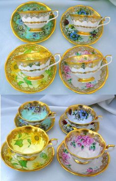 SET OF 4 Royal Albert duos in the Portrait Series