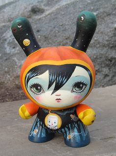 crazy cool custom Halloween Dunny by 64Colors