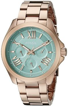 Montre pour femme : Fossil Women's Cecile Multifunction Stainless Steel Watch – Rose Gold-Ton… Stylish Watches, Luxury Watches, Rose Gold Watches, Fossil Watches, Beautiful Watches, Stainless Steel Watch, Fashion Watches, Jewelry Watches, Jewelry Accessories