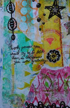Art journal page made with my gelli prints