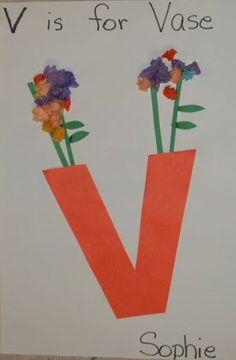 """V is for Vase and Violin @ Mrs. Karen's Preschool Ideas: """"V"""" Week"""