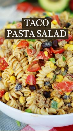 Side Salad Recipes, Healthy Salad Recipes, Vegetarian Recipes, Cooking Recipes, Best Pasta Salad, Recipe For Pasta Salad, Pasta Salad With Chicken, Corn Salad Recipe Easy, Mexican Food Recipes