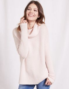 Rosemary Rollneck Sweater WV122 Knitted Sweaters at Boden