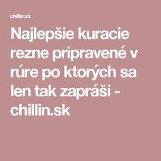 Najlepšie kuracie rezne pripravené v rúre po ktorých sa len tak zapráši - chillin.sk