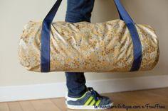 DIY sac de sport polochon Frou-Frou par Le marché éclectique