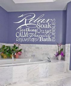 Relax Collage - bath bubbles tranquil  calm soak Vinyl Lettering wall  decal words graphics    Art Home decor itswritteninvinyl on Etsy, $12.42 CAD