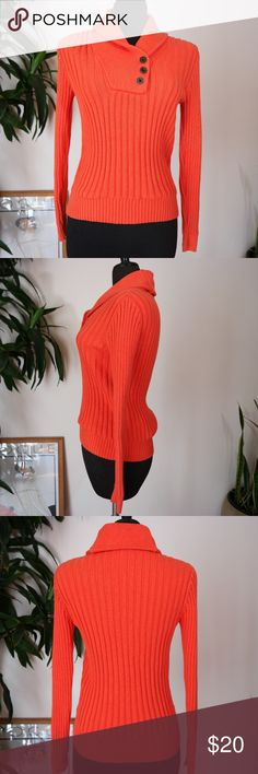 """Ralph Lauren Jeans Orange Cotton Cowl Neck Sweater In great condition. Some signs of light wear. No holes and stains.  Dimension when laid flat:  Length: 26"""" Armpit to armpit: 19"""" Sleeve length: 24.5""""  Mannequin: Bust: 37.5"""" Waist: 25"""" Hip:37""""  All sales are final. If you have any questions please feel free to ask before buying. Happy shopping! Lauren Ralph Lauren Sweaters Cowl & Turtlenecks"""