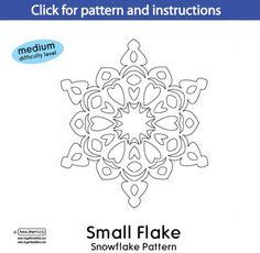 Lots Of Free Printable Paper Snowflakes Designs  Christmas