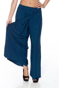 Billowing Breeze Wide Leg Pants - Navy