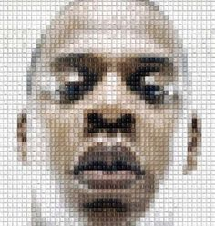 Celeb Mosaic Artwork using keyboards
