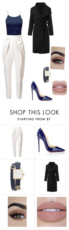 """""""Work work"""" by sarah4ever123 ❤ liked on Polyvore featuring Delpozo, Christian Louboutin and Tory Burch"""