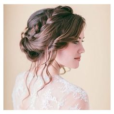Crown Brain Updo Hairstyle ❤ liked on Polyvore featuring hair, hairstyles and hair styles