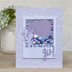Gorgeous Shaker card by Lucy Abrams using brand New Simon Says Stamp from the STAMPtember release.