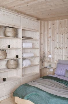 """This great cabin bedroom is from our feature """"Go with the Snow"""""""