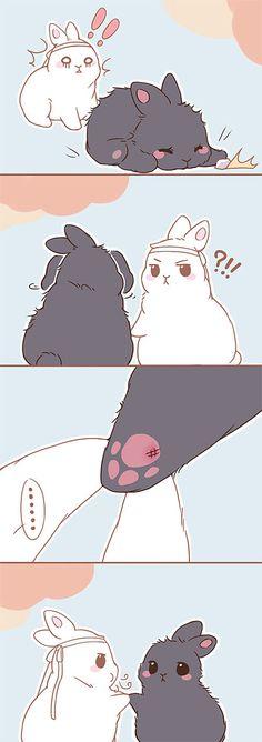 Read mo dao zu shi bunny from the story Imagenes Mo dao zu shi by with reads. Bunny Drawing, Bunny Art, Cute Bunny, Chibi Anime, Anime Kawaii, Illustration Kawaii, Manga Art, Anime Art, Cute Comics