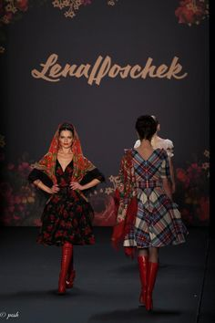 Lena Hoschek —: Mercedes Benz Fashion Week Berlin.  posh photographie by Rafael Poschmann